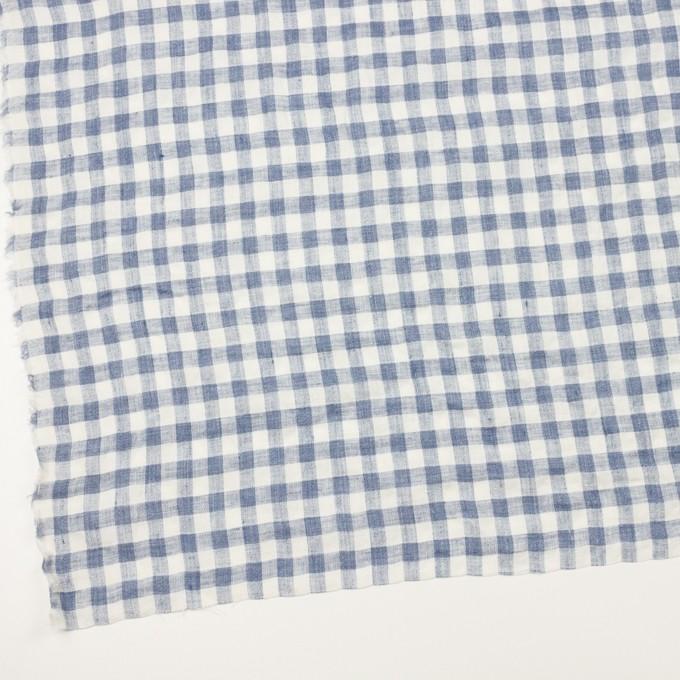 リネン×チェック(ヒアシンスブルー)×薄キャンバス イメージ2