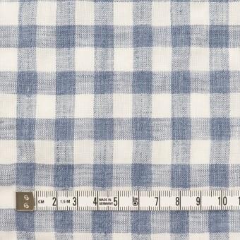 リネン×チェック(ヒアシンスブルー)×薄キャンバス サムネイル4