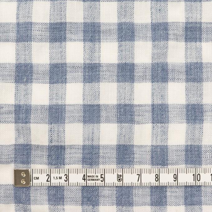 リネン×チェック(ヒアシンスブルー)×薄キャンバス イメージ4