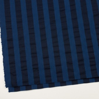 コットン×ストライプ(プルシアンブルー&ダークネイビー)×ポプリン&サッカー_全4色 サムネイル2