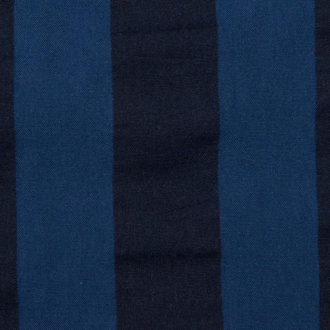 コットン×ストライプ(プルシアンブルー&ダークネイビー)×ポプリン&サッカー_全4色 イメージ1