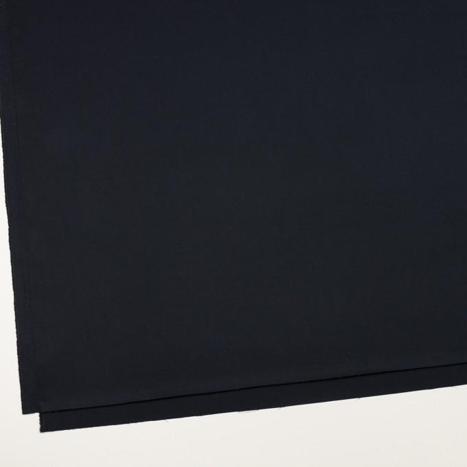 コットン&リネン混×無地(ダークネイビー)×サテンストレッチ_全4色 イメージ2