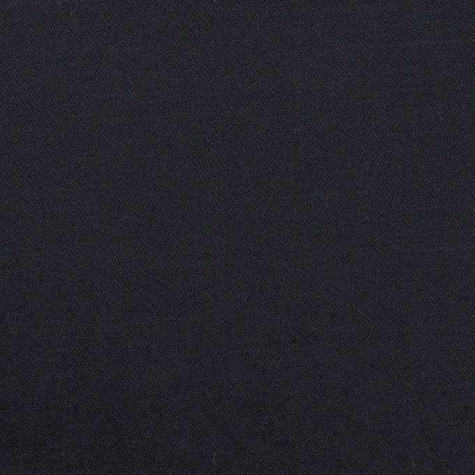 コットン&リネン混×無地(ダークネイビー)×サテンストレッチ_全4色 イメージ1
