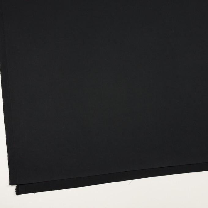 コットン&リネン混×無地(ブラック)×サテンストレッチ_全4色 イメージ2