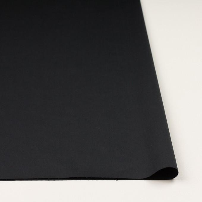 コットン&リネン混×無地(ブラック)×サテンストレッチ_全4色 イメージ3