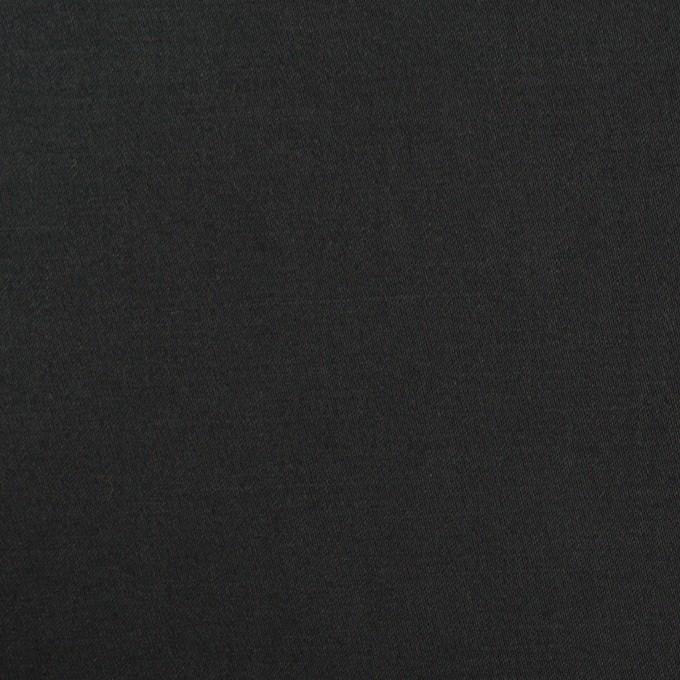 コットン&リネン混×無地(ブラック)×サテンストレッチ_全4色 イメージ1