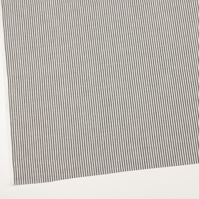 コットン×ストライプ(チャコールグレー)×ローン_全2色 イメージ2