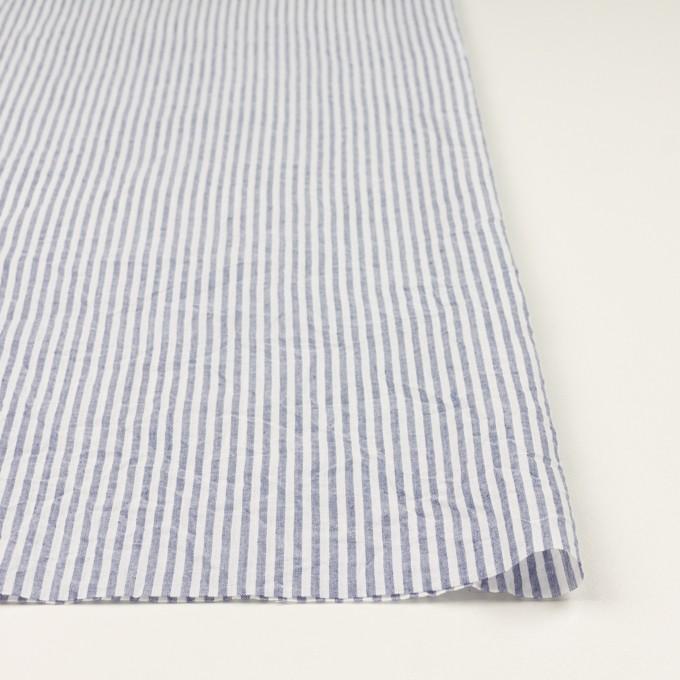 コットン×ストライプ(ブルー)×ボイルワッシャー イメージ3