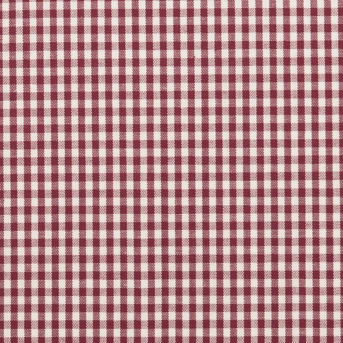 コットン×チェック(バーガンディー)×ブロード_全2色 イメージ1