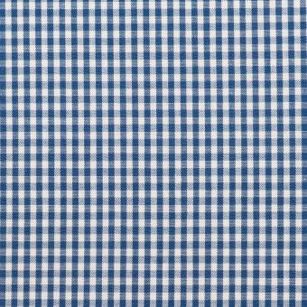 コットン×チェック(アッシュブルー)×ブロード_全2色 サムネイル1