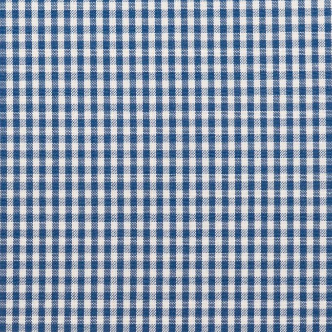 コットン×チェック(アッシュブルー)×ブロード_全2色 イメージ1