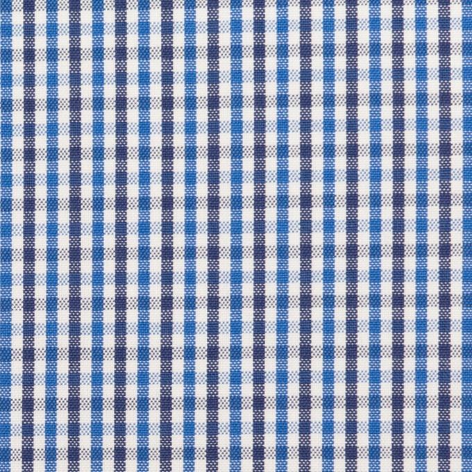コットン×チェック(ブルー&ネイビー)×オックスフォード_全3色 イメージ1