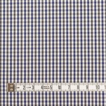 コットン×チェック(カーキグリーン&ネイビー)×オックスフォード_全3色 サムネイル4