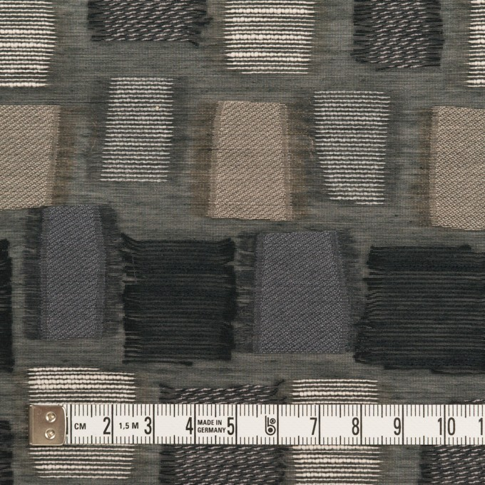 コットン&ナイロン混×幾何学模様(ブラック&ゴールド)×オーガンジー・ジャガード イメージ4