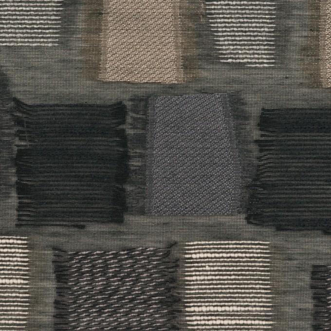 コットン&ナイロン混×幾何学模様(ブラック&ゴールド)×オーガンジー・ジャガード イメージ1