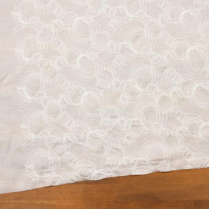 コットン×サークル(オフホワイト)×ボイル刺繍 イメージ2