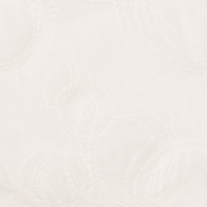 コットン×サークル(オフホワイト)×ボイル刺繍 イメージ1