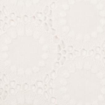 コットン×フラワー(オフホワイト)×ローン刺繍