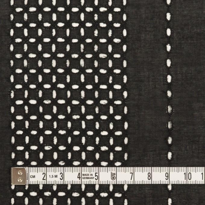 コットン×ストライプ(ブラック)×ローン刺繍_全2色 イメージ4