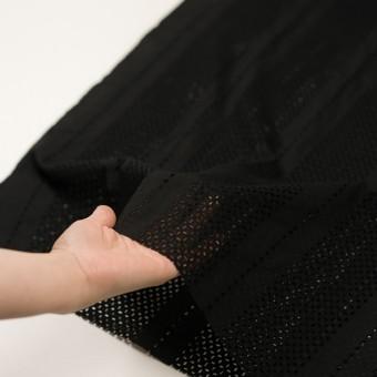 コットン×ストライプ(ブラック)×ローン刺繍_全2色 サムネイル5