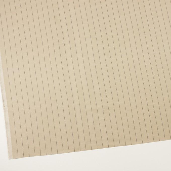 キュプラ&テンセル混×ストライプ(グレイッシュカーキ)×サージ イメージ2