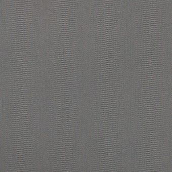 コットン&ビスコース混×無地(スチール)×サージストレッチ_全2色_イタリア製