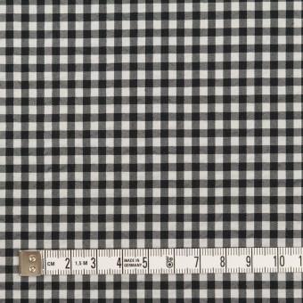 ナイロン&コットン混×チェック(ブラック)×ブロードサッカー・ストレッチ サムネイル4