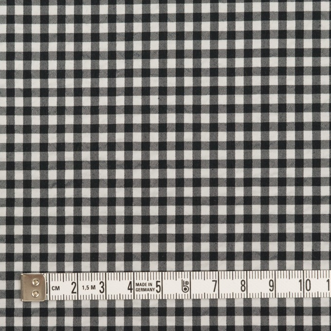 ナイロン&コットン混×チェック(ブラック)×ブロードサッカー・ストレッチ イメージ4