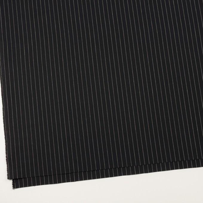コットン&リネン混×ストライプ(ブラック)×ポプリンストレッチ イメージ2