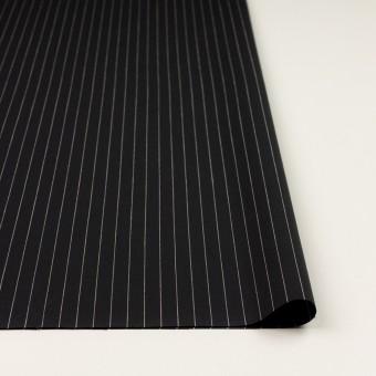コットン&リネン混×ストライプ(ブラック)×ポプリンストレッチ サムネイル3