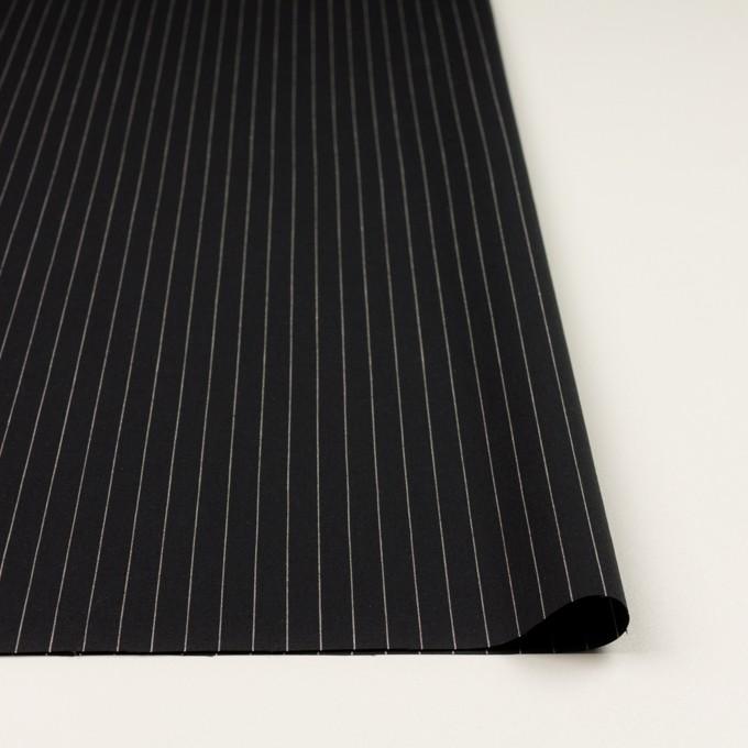 コットン&リネン混×ストライプ(ブラック)×ポプリンストレッチ イメージ3