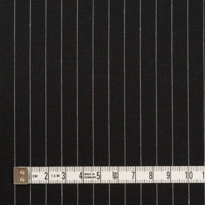 コットン&リネン混×ストライプ(ブラック)×ポプリンストレッチ イメージ4