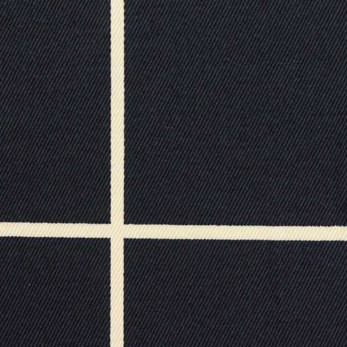 コットン×チェック(ネイビー&キナリ)×チノクロス イメージ1