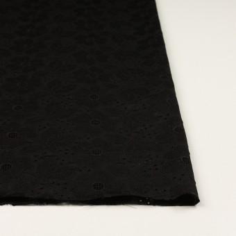 コットン×フラワー(ブラック)×ボイルカットジャガード刺繍 サムネイル3