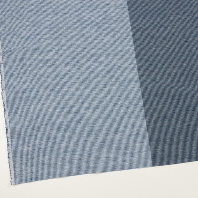 コットン&リネン混×ボーダー(アッシュブルー&アッシュネイビー)×ボイル イメージ2