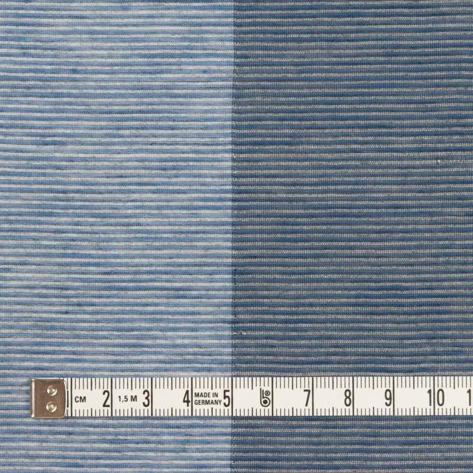 コットン&リネン混×ボーダー(アッシュブルー&アッシュネイビー)×ボイル イメージ4