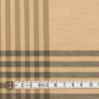 コットン&ポリエステル×チェック(ベージュ&グレー)×ボイルワッシャー_パネル サムネイル4