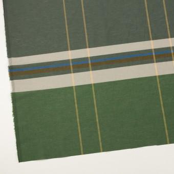 コットン&ポリエステル×チェック(フォリッジグリーン&スレートグリーン)×ボイルワッシャー_パネル サムネイル2