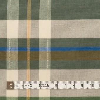 コットン&ポリエステル×チェック(フォリッジグリーン&スレートグリーン)×ボイルワッシャー_パネル サムネイル4