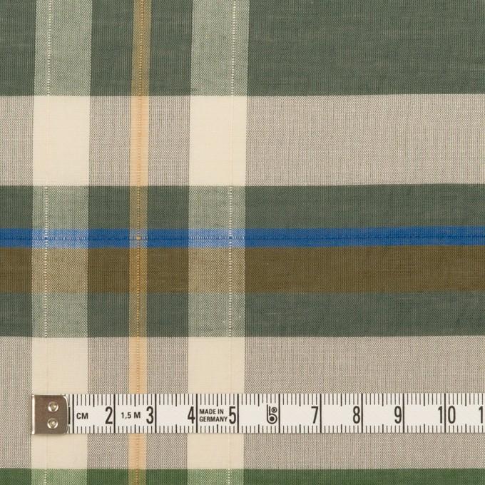 コットン&ポリエステル×チェック(フォリッジグリーン&スレートグリーン)×ボイルワッシャー_パネル イメージ4