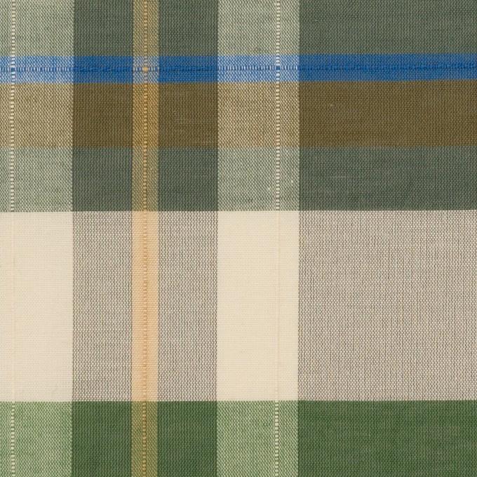 コットン&ポリエステル×チェック(フォリッジグリーン&スレートグリーン)×ボイルワッシャー_パネル イメージ1
