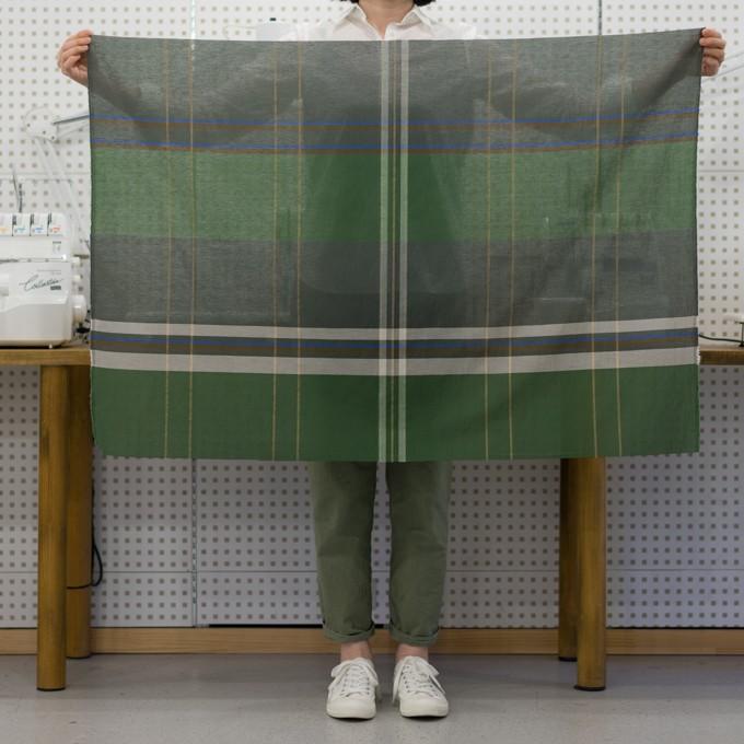 コットン&ポリエステル×チェック(フォリッジグリーン&スレートグリーン)×ボイルワッシャー_パネル イメージ6
