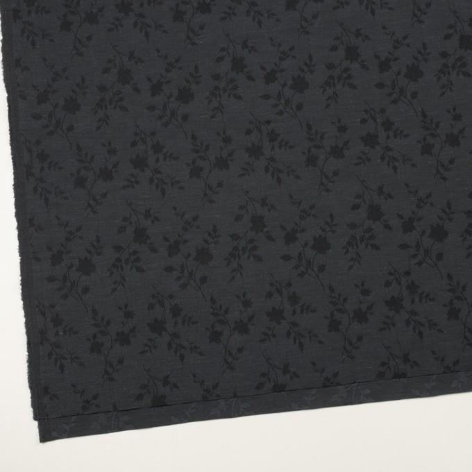 ポリエステル&キュプラ×フラワー(チャコール)×ポプリンジャガード イメージ2