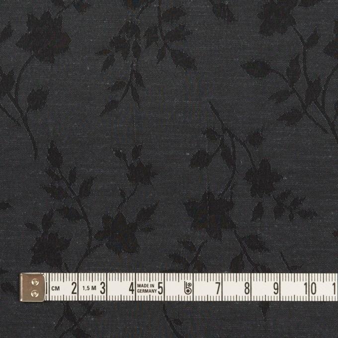 ポリエステル&キュプラ×フラワー(チャコール)×ポプリンジャガード イメージ4
