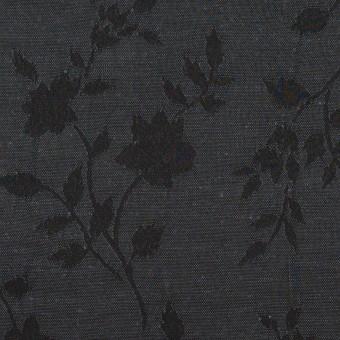 ポリエステル&キュプラ×フラワー(チャコール)×ポプリンジャガード サムネイル1
