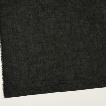 コットン×無地(ブラック)×ボイルワッシャー_全4色 サムネイル2