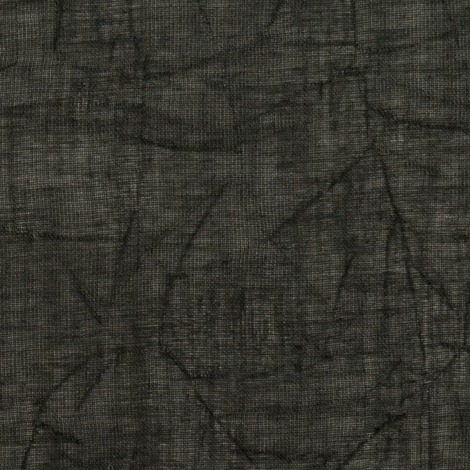 コットン×無地(ブラック)×ボイルワッシャー_全4色 イメージ1