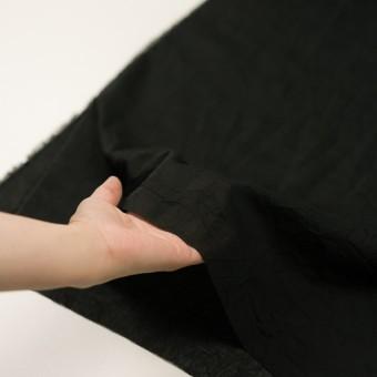 コットン×無地(ブラック)×ボイルワッシャー_全4色 サムネイル5