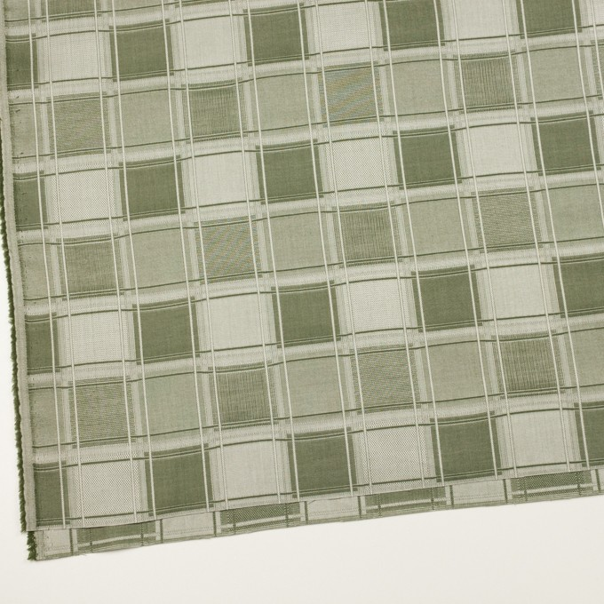 コットン×チェック(アイビーグリーン)×風通織(二重織) イメージ2