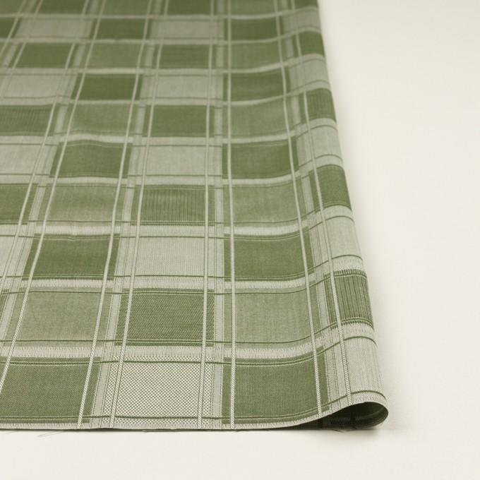 コットン×チェック(アイビーグリーン)×風通織(二重織) イメージ3